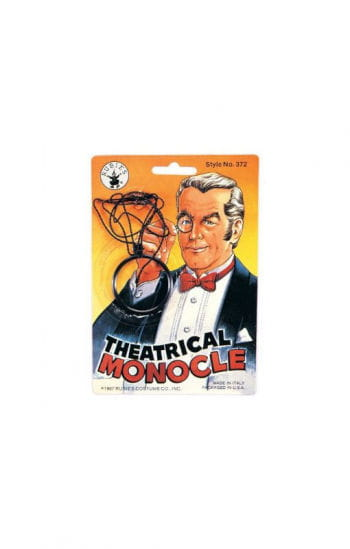 Monocle with lens
