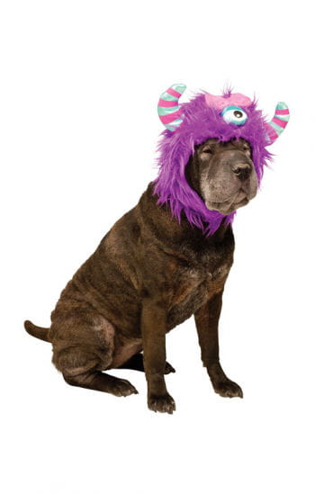 monster m tze f r hunde lila lustige karnevals m tze f r vierbeiner horror