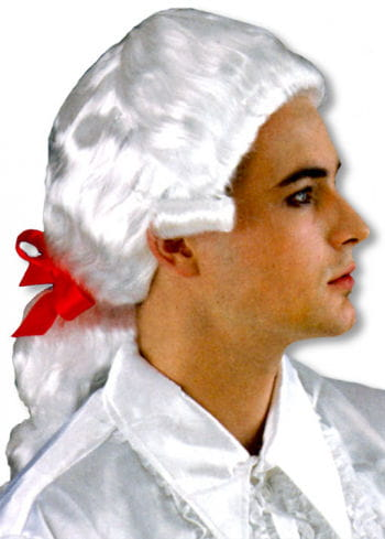 Mozart Wig with Red Bow