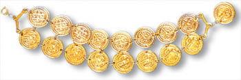 Coin Bracelet Gold