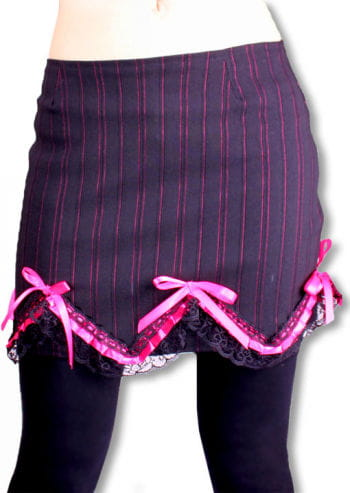 Pinstripe mini skirt