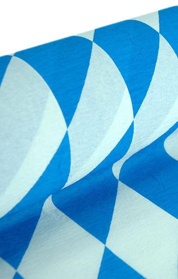 Niflamo Rautenkrepp weiß-blau