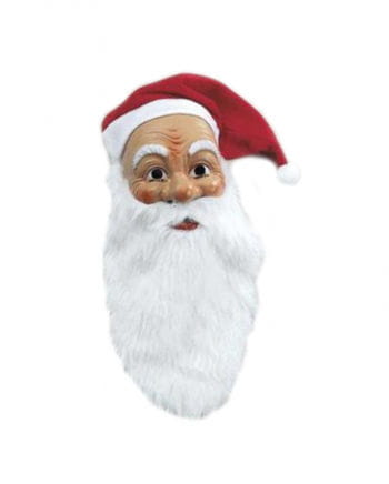 Nicholas mask with plush beard and hat