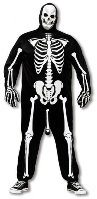 Notgeiles Skelett Kostüm Plus Size