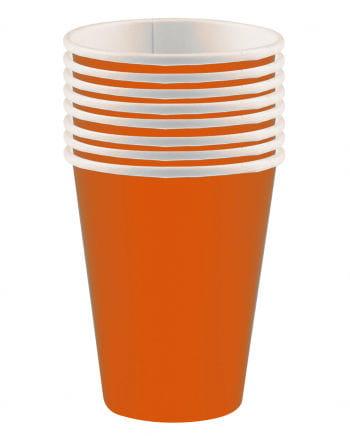 Orangefarbene Pappbecher