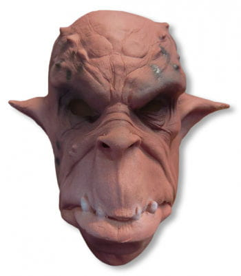 Ork Maske Schaumlatex rot-braun