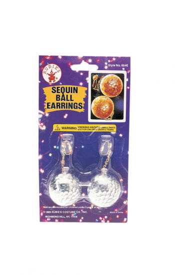 Sequin ball earrings silver