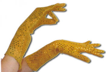 Sequin Gloves Gold