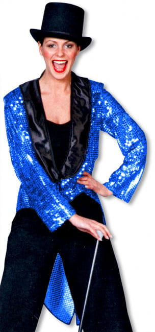 Sequin dress coat blue