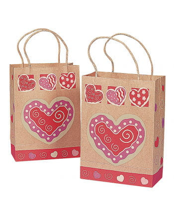 Paper gift bags Herzmotiv 12 St.