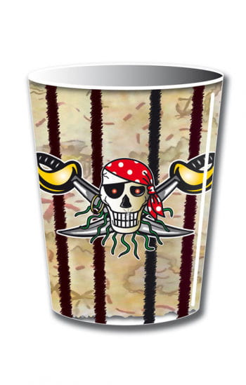Papp-Becher Red Pirate