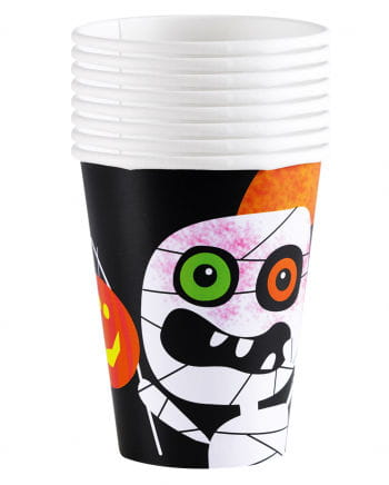 Paper cups Halloween Monster 8