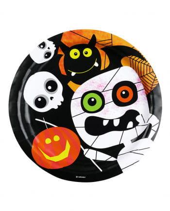 Pappteller Halloween Monster 8 Stück