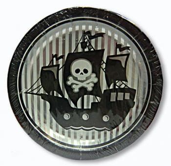 Paper Plates Pirates ahead Set of 8