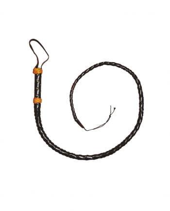 Peitsche aus schwarzem Leder 1,60m