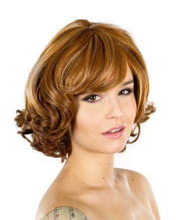 Wig Vera mottled brown-red