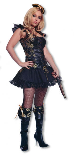 Pirate Lady Costume with Hat M / 38