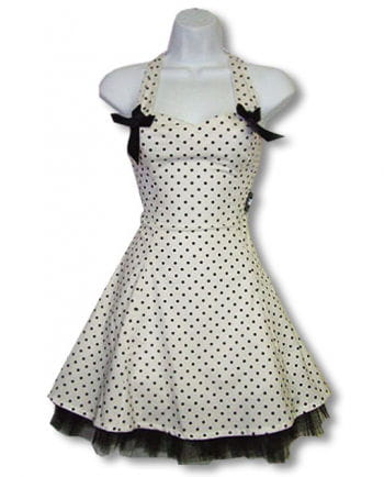 Polka dot dress and white