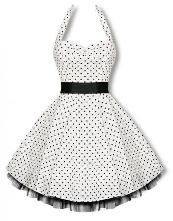 Neckholder Polka Dot Kleid schwarz-weiß
