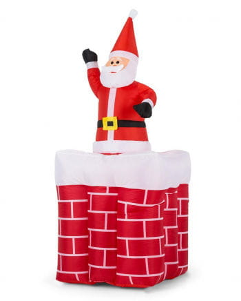 Santa Claus in chimney 180cm inflatable