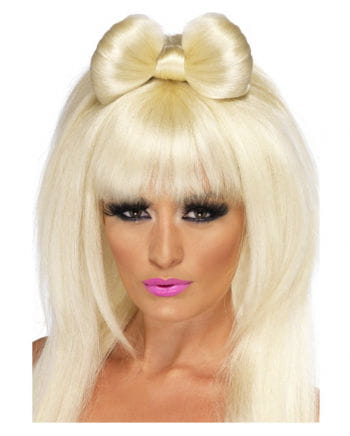 Popstar Wig Blonde with bow