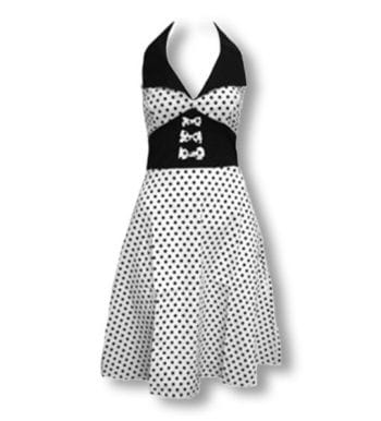 Dot dress white black M / 38