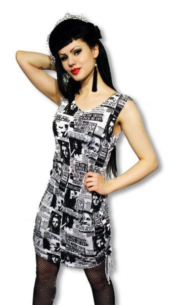 Punk Kleid im Zeitunsdesign L L / 40