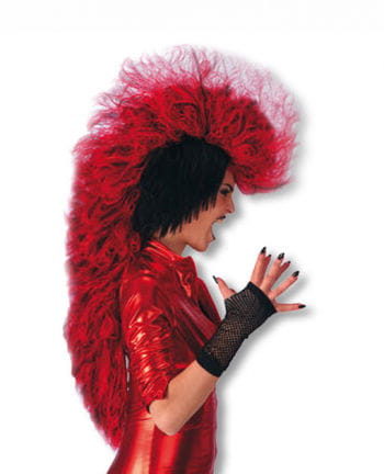 Punk Devil Wig black red