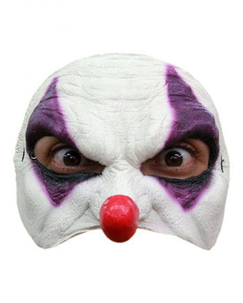 Purple Clown Half Mask