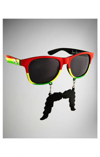 Rasta glasses with beard