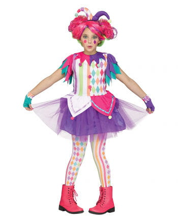Colourful Harlequin costume