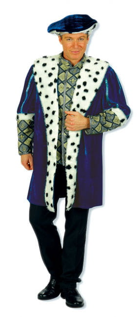 King robe with beret XL Men Costume