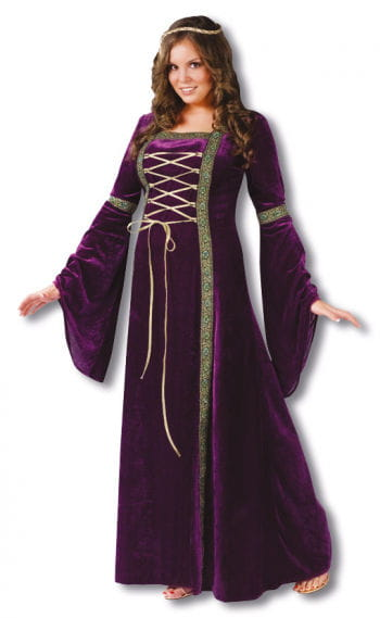 Damsel Costume Purple Plus Size