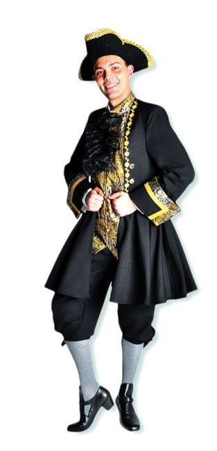 Renaissance Marquis Kostüm  schwarz