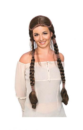 Renaissance wig deluxe brown