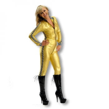 Racer Girl Costume Gold M