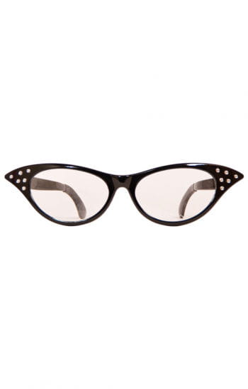 Retro glasses black XXL