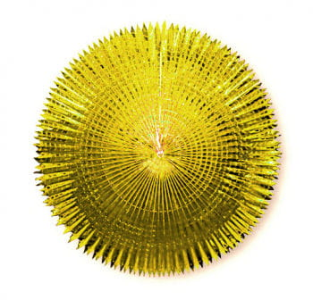 Folding fan metal foil Gold 120 cm