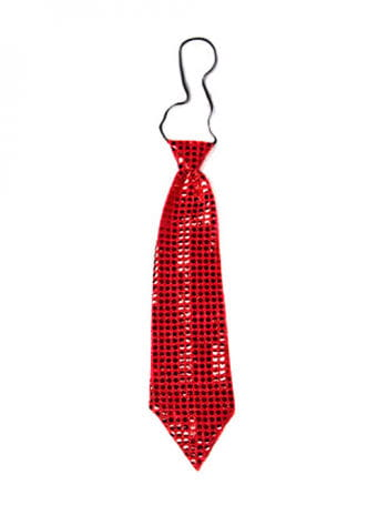 Giant red sequined tie