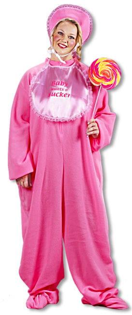 Riesenbaby Kostüm Pink XL