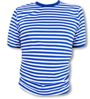 Striped Shirt Blue White