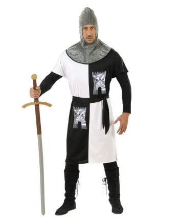 Knight Costume Black/White Size M