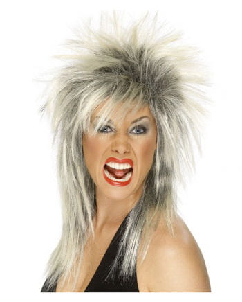 Rock Diva Perücke Platinblond