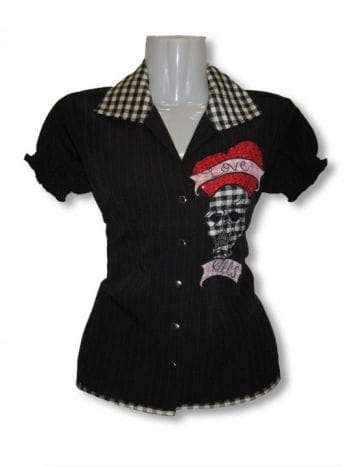 Pin-up Blouse Black