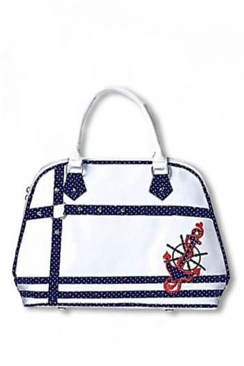 Rockabilly handbag white