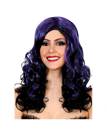 Halloween Wig black-purple