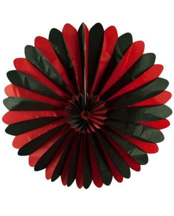 Rosettenfächer schwarz/rot 90cm