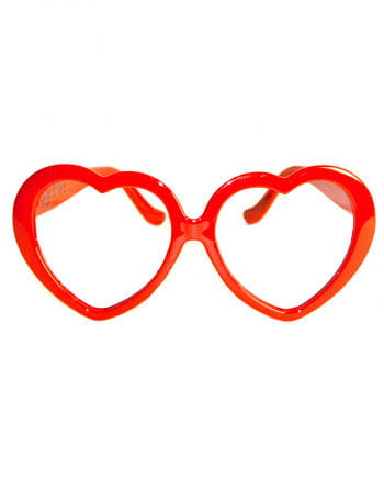 Red heart glasses