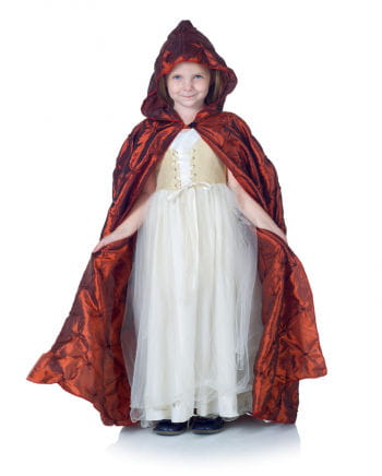 Hooded Cape for Kids bordeaux