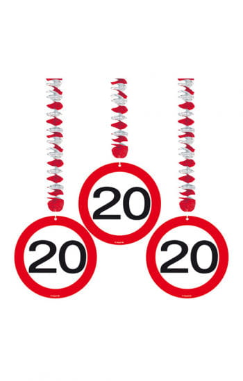 Rotorspirale Verkehrsschild 20